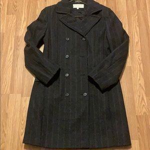 Jones New York Pin Stripe Trench Coat